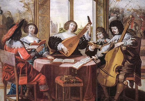 Thuismuziek, oud schilderij