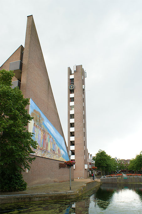 Goede Rede, toren en gevel met muurschildering